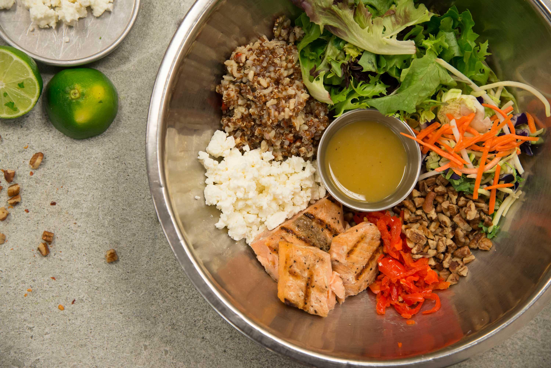 Power Salmon Salad in bowl